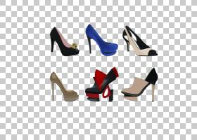 女性卡通,高跟鞋,户外鞋,凉鞋,鞋类,剪影,时尚,服装,女人,运动鞋,
