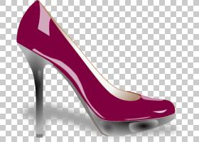 女性卡通,高跟鞋,洋红色,碱性泵,户外鞋,紫色,服装,时尚,鞋类,反