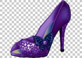 女性卡通,高跟鞋,洋红色,紫罗兰,碱性泵,鞋类,紫色,丁香,粉红色,