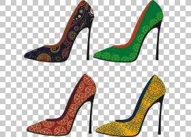 女性卡通,高跟鞋,碱性泵,户外鞋,楔形,贵宾犬裙子,时尚,女人,服装