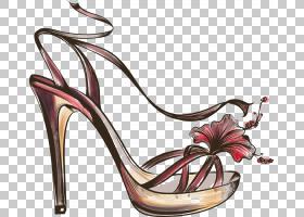 女性卡通,高跟鞋,碱性泵,鞋类,户外鞋,精品店,服装,鞋店,雅致,引