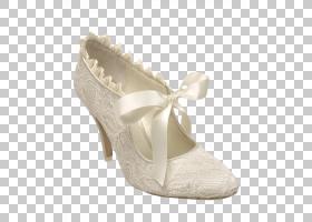 白色背景功能区,高跟鞋,米色,新娘鞋,功能区,连衣裙,礼服靴子,骡