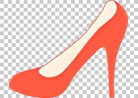 橙色背景,桃子,碱性泵,庭院鞋,橙色,红色,高跟鞋,鞋类,五金泵,腿,