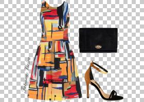 橙色背景,橙色,服装设计,服装设计,纺织品,长裙,长袍,时尚,球杆,