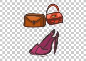 橙色背景,橙色,鞋类,个人防护装备,户外鞋,绘图,服装辅料,手提包,