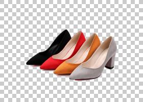橙色背景,高跟鞋,橙色,碱性泵,户外鞋,桃子,防水施工,时尚,凉鞋,
