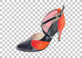 橙色背景,高跟鞋,橙色,碱性泵,鞋类,伊莎贝尔・阿瑟诺,鞋子,凉鞋,