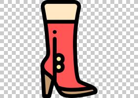 平面设计鞋类,高跟鞋,人腿,面积,线路,鞋子,鞋类,红色高跟鞋,动画