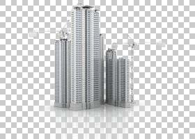 建筑卡通,大都市,共管公寓,塔楼,豪斯,项目,公寓,业务,立面,摩天