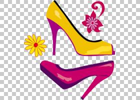 粉色背景,高跟鞋,线路,鞋类,黄色,紫色,洋红色,粉红色,绘图,脚跟,