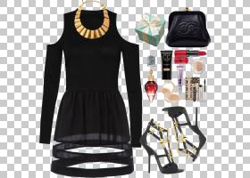 小黑裙肩部,脖子,肩部,衣架,红色,着装衣服,时尚,领口,袖子,鞋子,
