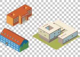 建筑卡通,角度,纸箱,架构模型,模板,3D计算机图形学,等距投影,藏