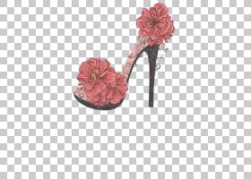 粉花卡通,高跟鞋,鞋类,户外鞋,桃子,粉红色,服装,凉鞋,红色,鞋子,