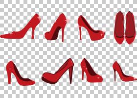 彩色背景,高跟鞋,线路,户外鞋,文本,颜色,燕尾服,时尚,红宝石拖鞋