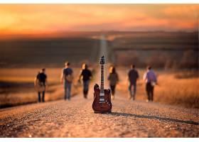 音乐,吉他,路,人,深度,关于,领域,壁纸,