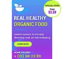 创意食品餐厅横幅海报价目表设计素材