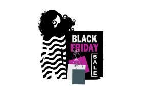 时尚女性黑色星期五促销通用矢量banner背景