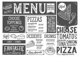 高清潮流创意餐厅咖啡厅奶茶店现代设计矢量菜单元素