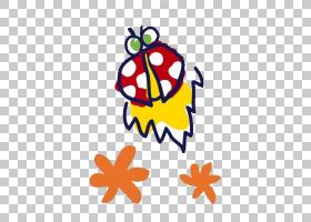 瓢虫剪贴画,线路,桔黄色的,黄色,食物,面积,叶,花,瓢虫,瓢虫属,蚜