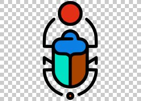 图标设计,线路,图标设计,埃及人,赫普里,埃及象形文字,甲虫,符号,