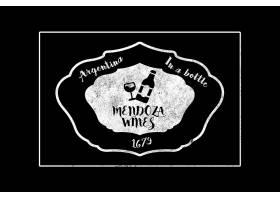 黑白高档多用途徽标包LOGO标志图案
