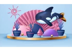 世界海洋动物illustration模板