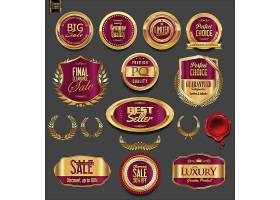金色圆形标签素材