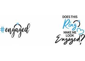 个性艺术英文字体钻戒主题标签设计