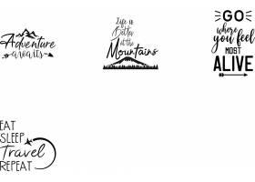 个性艺术英文字体主题标签设计