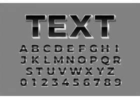 创意个性数字与大写字母字体样式设计