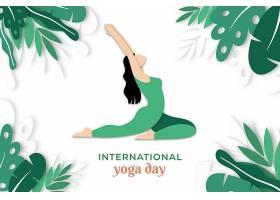 高清卡通漫画人物瑜伽塑身锻炼海报设计素材