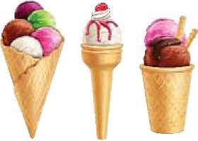 美味冰淇淋雪球元素素材