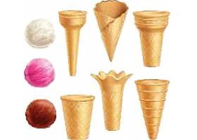 个性创意美味冰淇淋雪球雪糕元素素材