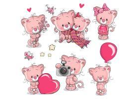 可愛小熊情人節形象卡通手繪插畫設計