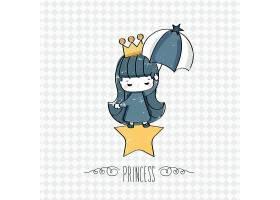 小女王形象卡通手绘插画设计