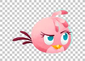 斯特拉・愤怒的小鸟,长毛绒,微笑,婴儿玩具,材料,毛绒玩具,粉红色