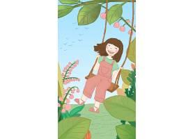 创意童心手绘儿童节主题手绘插画海报背景设计