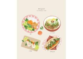 美味的美食海报