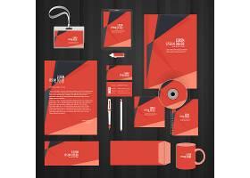 时尚商务办公物品平铺整套VI展示矢量素材