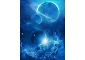 星空宇宙星球科技背景展板Banner