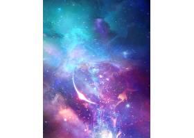 梦幻星空宇宙科技背景展板Banner