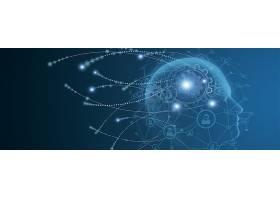 智能人脑开发科技背景展板Banner