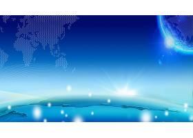 地球表面科技背景展板Banner
