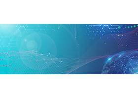 互联网科技线条元素主题Banner背景