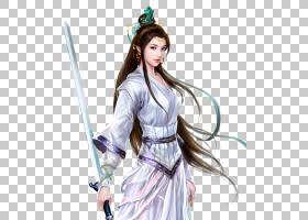 游戏人物立绘PNG 免抠透明古装古风唯美人物角色 (10)图片
