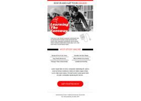 简约创意学校教育机构电子邮件广告设计模板