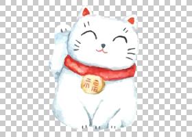 猫卡通,长毛绒,白色,纺织品,材料,毛绒玩具,绘画,日本文化,运气好图片