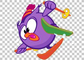 猫头鹰卡通,鸟,线路,喙,动画片,紫色,Kikoriki,滑雪,卡卡里奇,猫图片