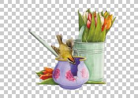 水彩画花卉背景,花盆,种,花,绘画,水彩画,动画片,花瓶,