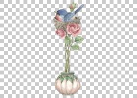粉花卡通,花卉设计,园林玫瑰,插花,切花,小叶月季,花瓶,花瓣,花盆